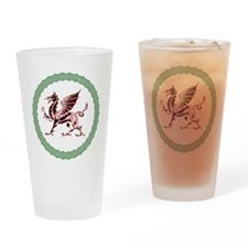 Celtic Knots And Red Dragon Drinking Glass