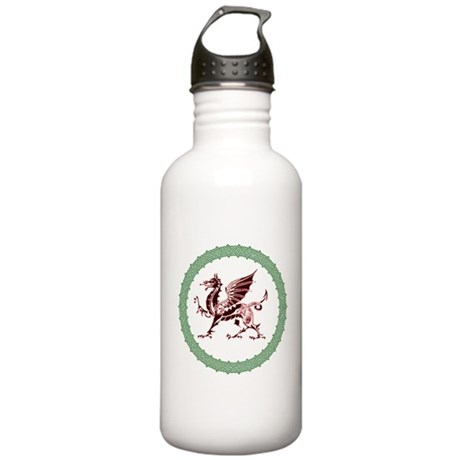 Celtic Knots And Red Dragon Stainless Water Bottle
