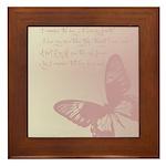 Creamy Pink Butterfly Framed Tile