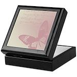 Creamy Pink Butterfly Keepsake Box