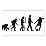 evolution soccer player Decal