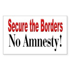 No Amnesty Rectangle Decal