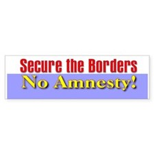 No Amnesty Bumper Bumper Sticker