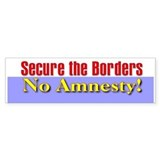 No Amnesty Bumper Bumper Stickers