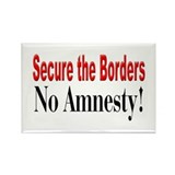 No Amnesty! Rectangle Magnet (100 pack)
