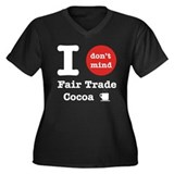 I Don't Mind... Women's Plus Size V-Neck T-Shirt