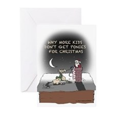 Xmas Pony Delivery Greeting Cards (Pk of 20)