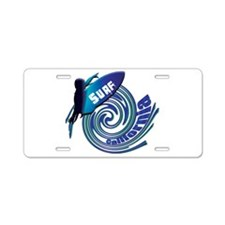 Surf California Aluminum License Plate