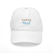 embalming diva brown blue.PNG Baseball Cap
