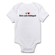I Love Eric and Abbigail Infant Bodysuit