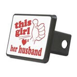 Girl Loves Her Husband Hitch Cover