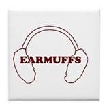 Earmuffs Tile Coaster