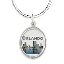 Orlando Silver Oval Necklace
