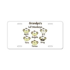 Custom kids monkeys Aluminum License Plate