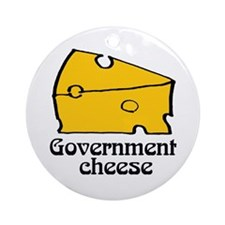 Government Cheese Ornament (Round)