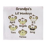 Custom kids monkeys Throw Blanket