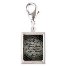 Dream Within A Dream Silver Portrait Charm