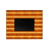 Gold and Brown Stripe Picture Frame
