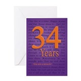 34 Year Recover Birthday Greeting Card