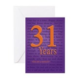 31 Year Recover Birthday Greeting Card