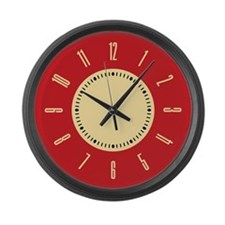 retro-red-plain_cl.png Large Wall Clock