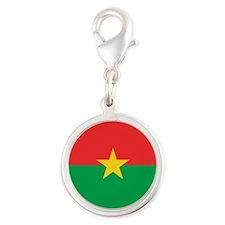 Burkina Faso AF roundel Silver Round Charm