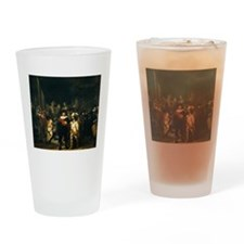 Rembrandt Night Watch Drinking Glass