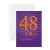 48 Year Recovery Birthday Greeting Card