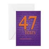 47 Year Recovery Birthday Greeting Card