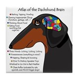 Cute Dachshund brain Tile Coaster