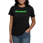 kawigreenback.png Women's Dark T-Shirt