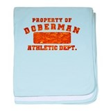 Property of Doberman baby blanket