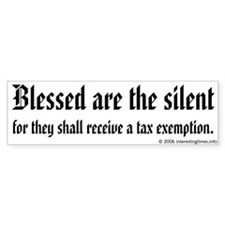 blessed are Bumper Bumper Sticker
