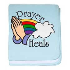 Prayer Heals baby blanket