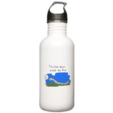late_worm_print.jpg Water Bottle