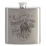 Steamboat Springs Vintage Moose Flask