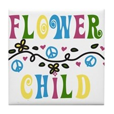 Flower Child Tile Coaster