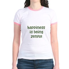 happiness is being zenful Jr. Ringer T-Shirt