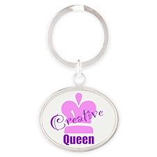 Creative Queen Oval Keychain