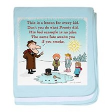 Frosty's Bad Example baby blanket
