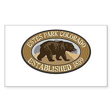 Estes Park Brown Bear Badge Decal