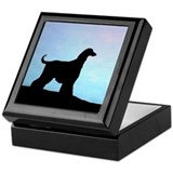 Afghan Hound Blue Sunset Keepsake Box