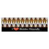 I Love Ibizan Hounds Bumper Bumper Sticker