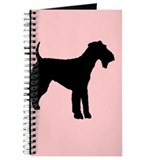airedale terrier dog pink Journal
