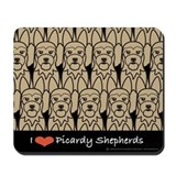 I Love Picardy Shepherds Mousepad