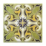 Cute Nouveau Tile Coaster
