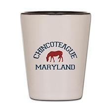 Chincoteague Island MD - Ponies Design. Shot Glass