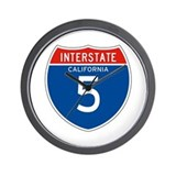 Interstate 5 - CA Wall Clock