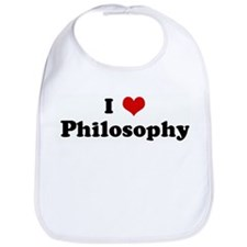 I Love Philosophy Bib