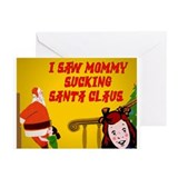 Mommy sucking santa christmas cards (Pk of 10)